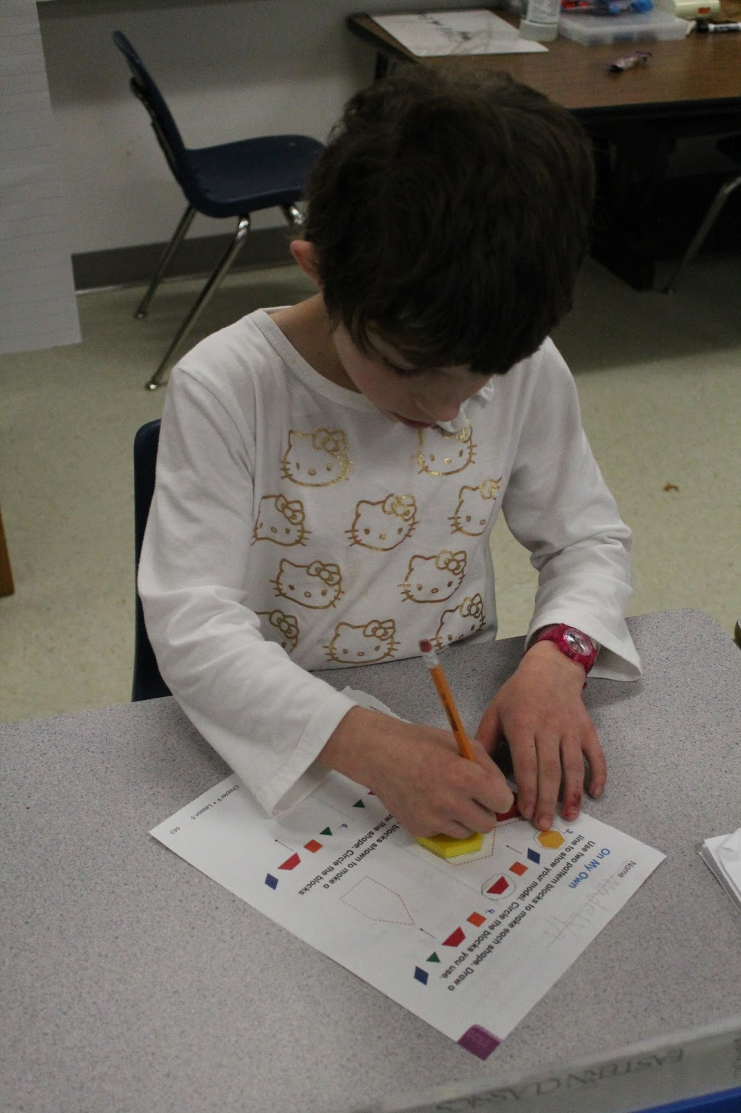 Mrs Lieck S Classroom Composing Two Dimensional Shapes To Create A Composite Shape