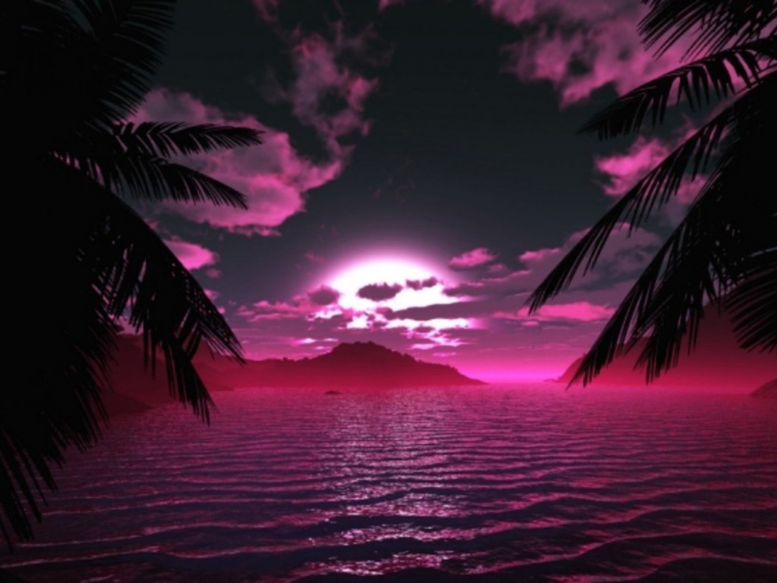 Pinkish Sunset Wallpaper Free Download Wallpapers