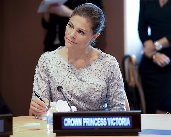 Crown Princess Victoria wore Baum und Pferdgarten Alaine Flower Lace Dress and WHYRED Loise Print Dress -Zebra