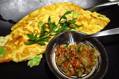 Dancing Fish Signature, omelette petai sambal matah