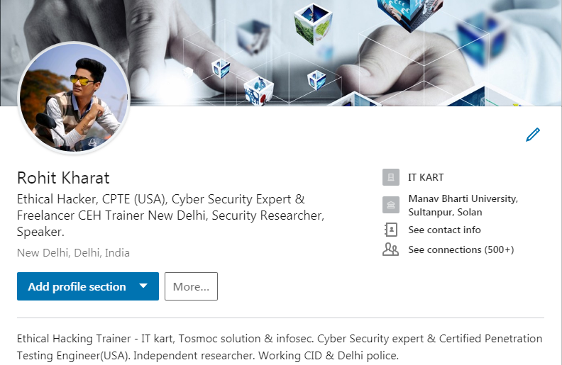 rohit kharat: How to become a cyber security professional?