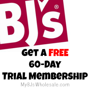 Free 60 Day Trial Membership to BJs Wholesale Club