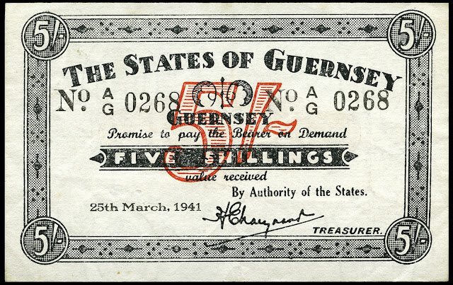 25 March 1941 worldwartwo.filminspector.com occupation currency Guernsey