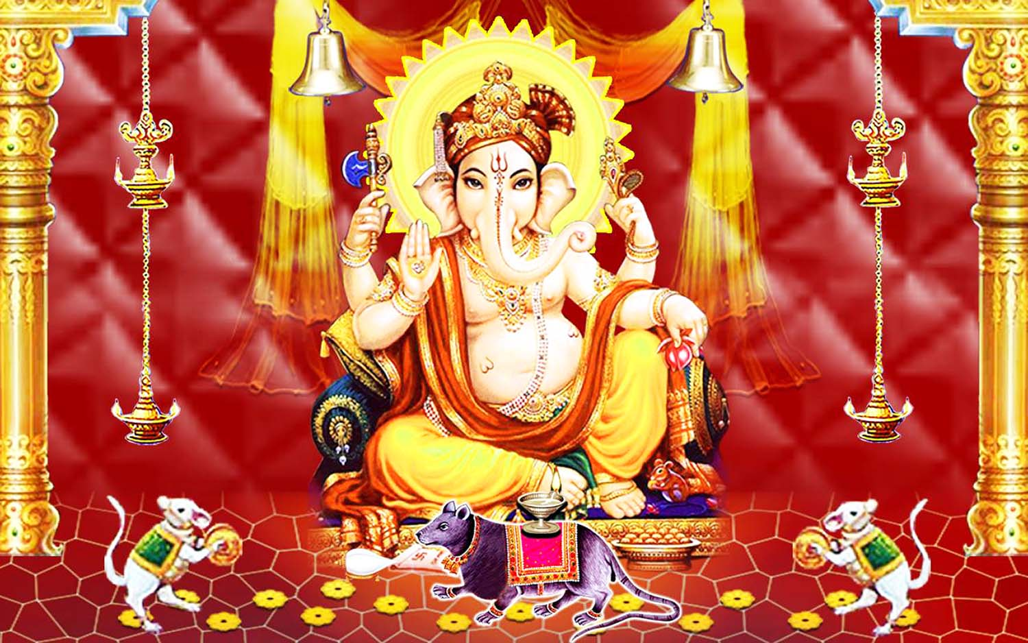 Lord Vinayak chaturthi image with mushak