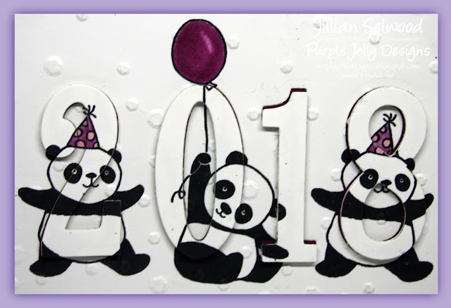 Scattered Sequins DTIEF, Party Pandas, 2018 New Year Card
