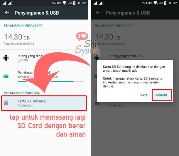 cara menggunakan sd card dengan benar di android