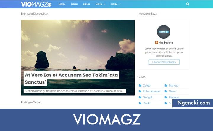 Template Blogger VioMagz