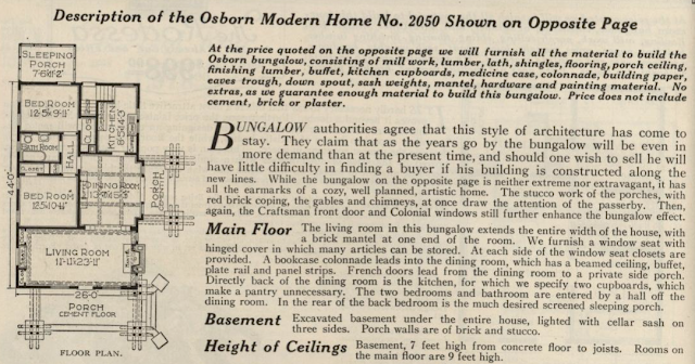 Sears Osborn floor plan