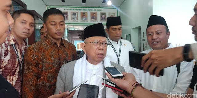 Prabowo Sebut Ekonomi Kebodohan, Ma'ruf: Saya Ekonomi Optimistik