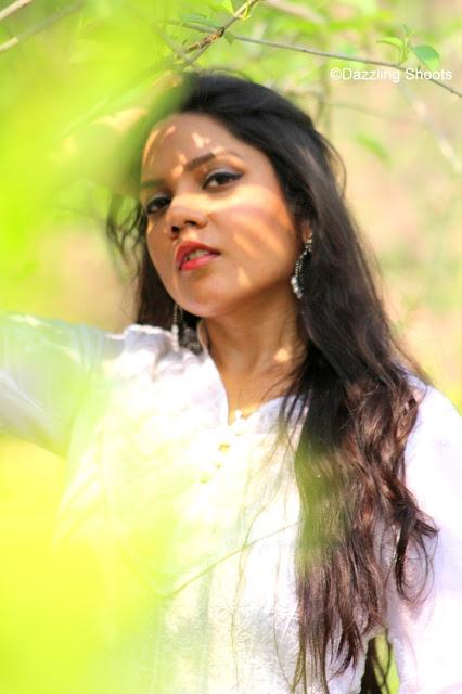 Chikan White Anarkali Lucknow