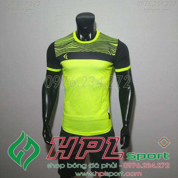 Áo bóng đá không logo TL HML Riyad màu chuối