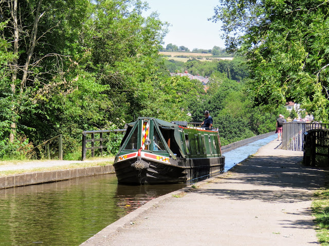 North Wales points of interest: Canal boat at Pontcysyllte Aqueduct