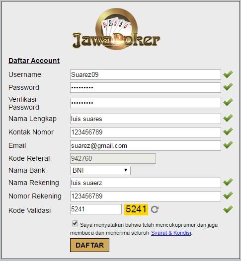 Daftar JawaPoker88 Agen Poker AduQ Domino99 BandarQ Bandar Poker Online Terpercaya Indonesia