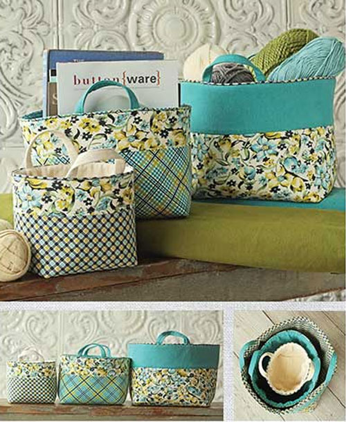 Ducks N A Row 16 Fabulous Fun Diy Fabric Baskets For You