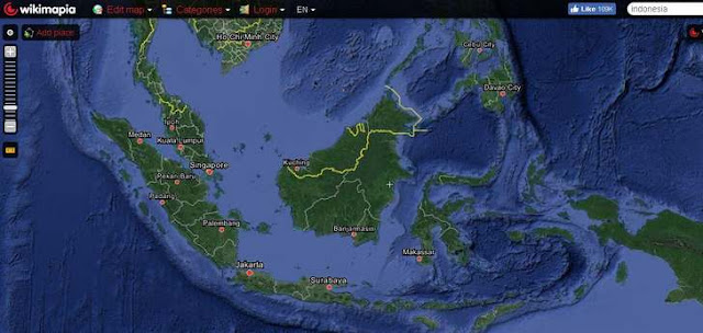 gambar peta indonesia terbaru dari satelit