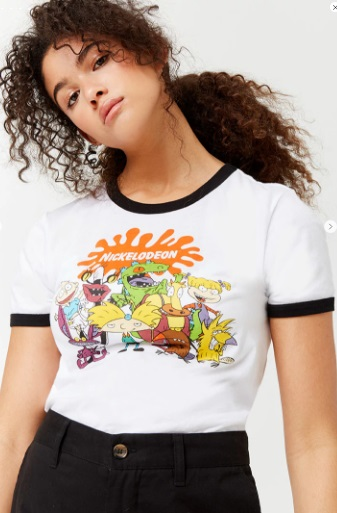 90s themed shirts Nickelodeon shirt Forever 21 90s cartoon shirts