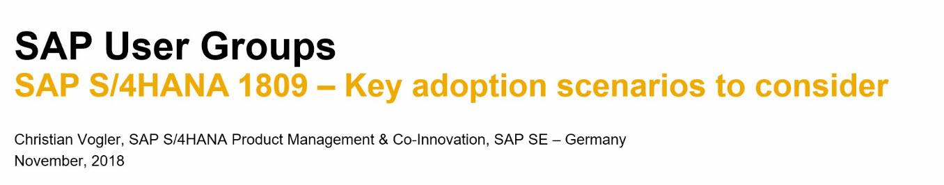 SAP HANA Central : 2018