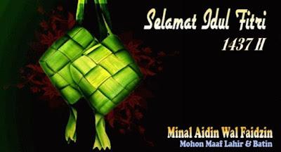 Kata mutiara indah ucapan selamat lebaran Idul Fitri 1437 H terbaru dan terbaik untuk keluarga, teman, maupun orang tersayang. Ucapan untuk SMS dan membuat status Facebook maupun BBM.