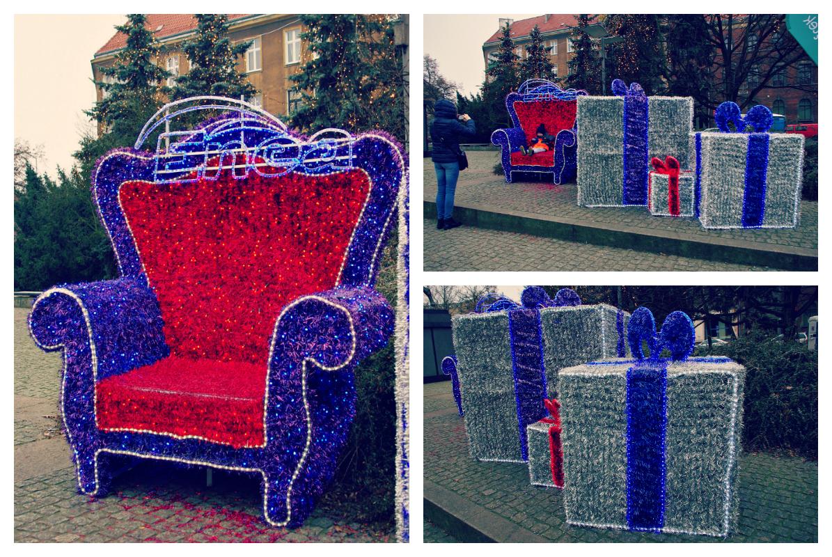 Świąteczne dekoracje na Placu Żołnierza Polskiego.