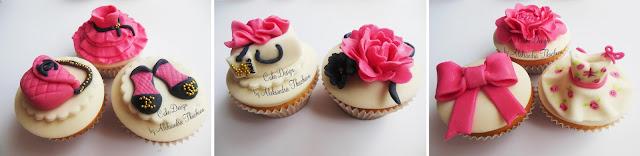 Fondant cupcakes.Dresses/shoes/bags Channel