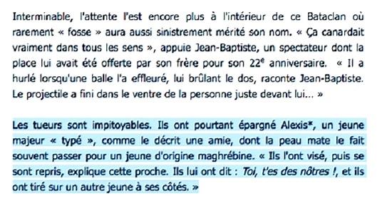 Attentats de Paris au Bataclan  : les victimes ciblées selon l'origine ? dans France attentats%2Bparis%2Bles%2Bvictimes%2Bcibl%25C3%25A9es