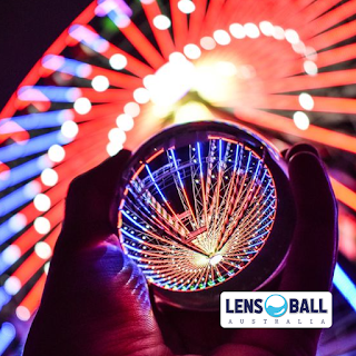 Lensball Night Lights on Ferris Wheel