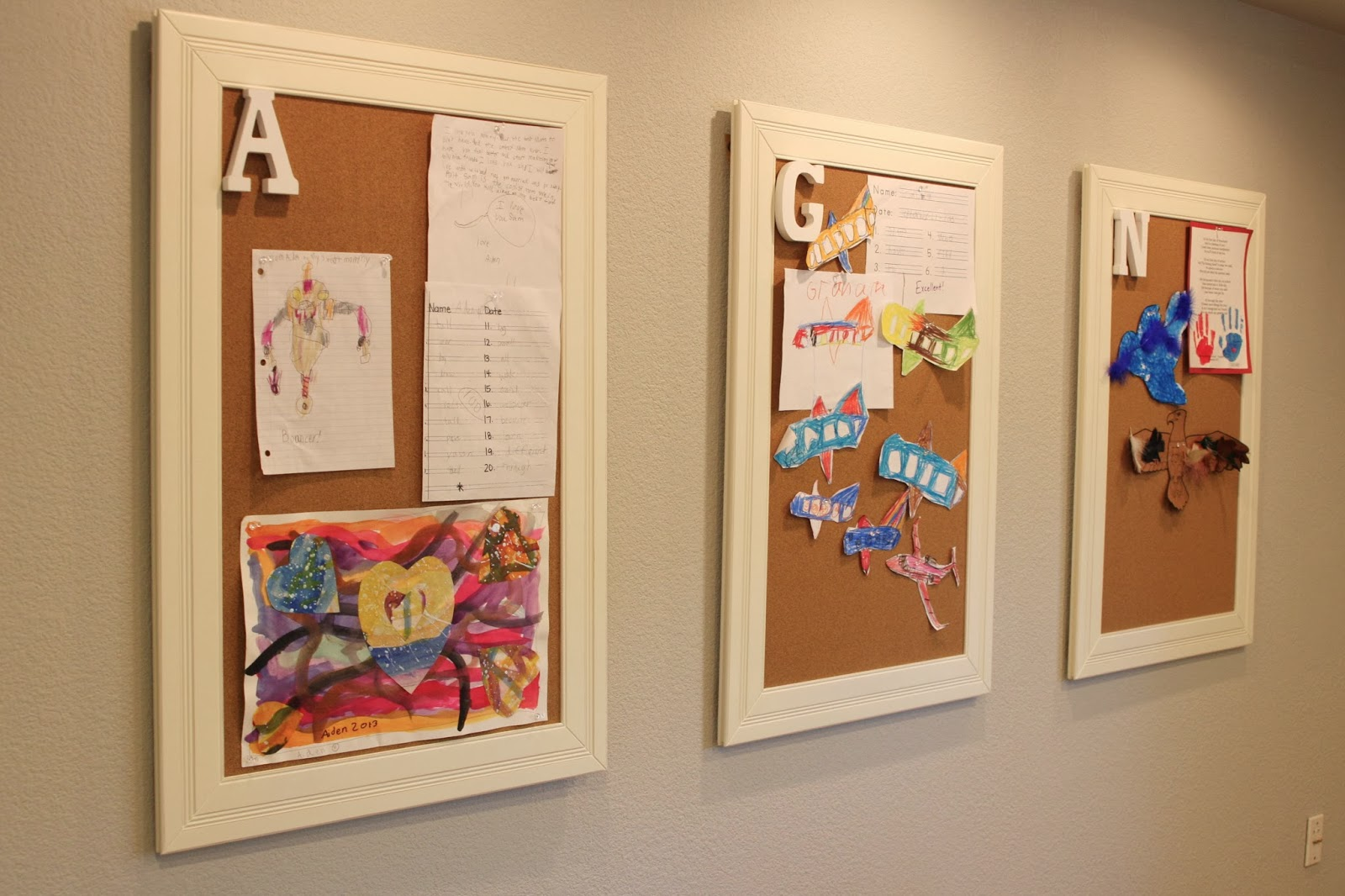 Simple Kids Art Display Simply Organized
