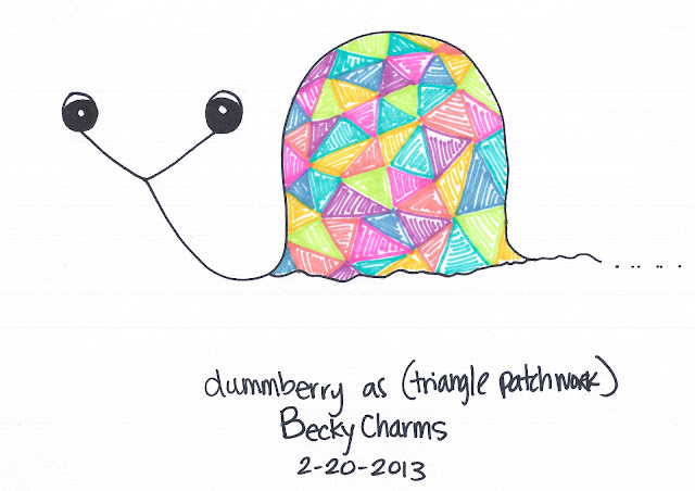 Dummberry as Triangle Patchwork, 2013, art, arte, cartoon, dummberry, beckycharms, San Diego,
