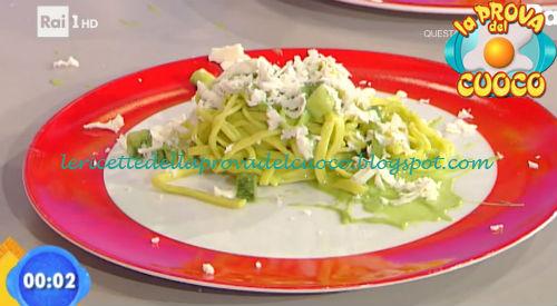 Tagliolini allo zafferano con zucchine e caciotta di pecora ricetta Agostini da Prova del Cuoco