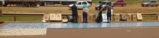Automovilista evadió control policial, chocó contra un guardarraíl y fue detenido con mil gruesas de cigarrillos