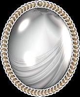 Moldura oval png espelho