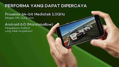 Prosesor quad core dan android 6.0 Moto E3 Power