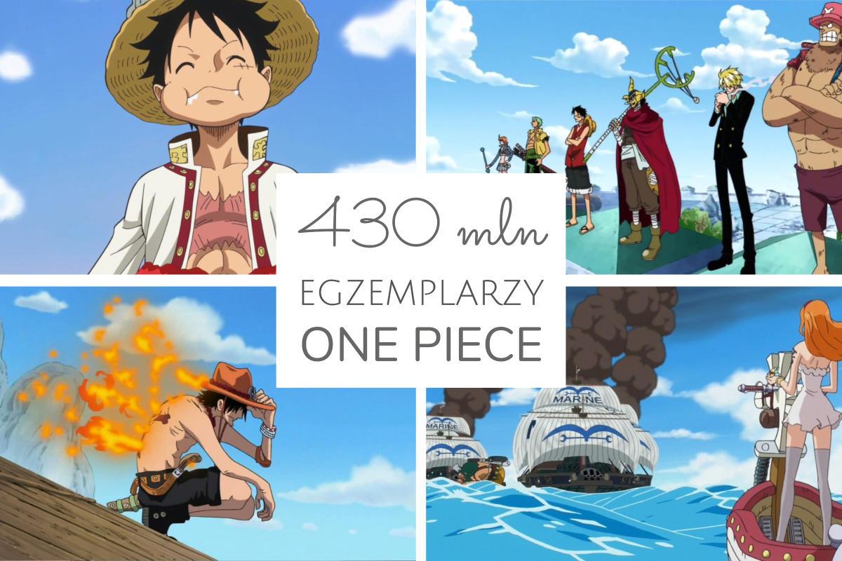 430 milionów egzemplarzy mangi One Piece