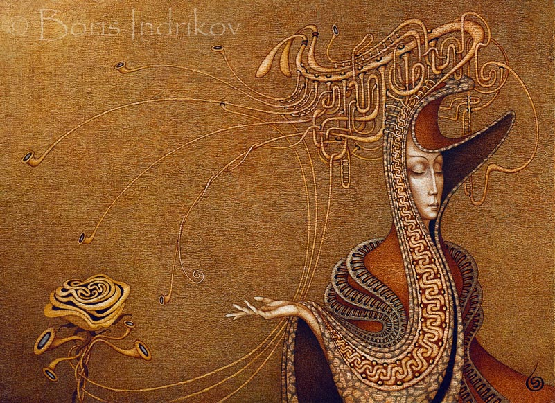 Boris Indrikov [Борис Индриков] - Russian  Magical Realism painter