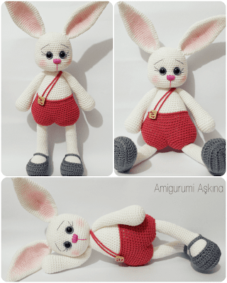 Yeniden Amigurumi Tavşan Pamuk-Amigurumi Rabbit