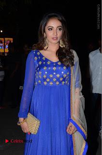 Telugu Actress Tejaswi Madivada Pos in Blue Long Dress at Nanna Nenu Na Boyfriends Audio Launch  0024.JPG