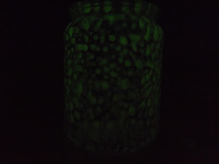 Foszforeszkáló üveg dísz