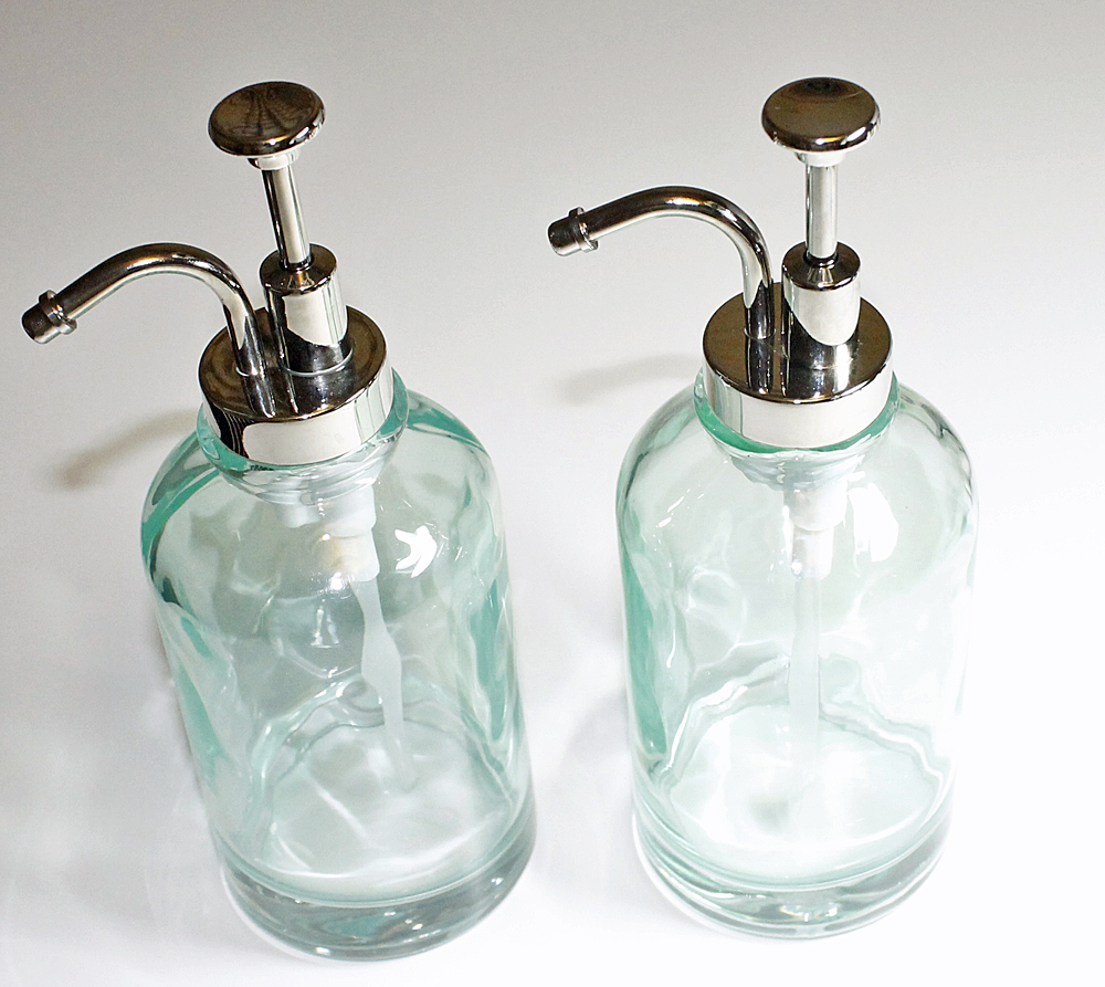 Glass Bathroom Soap Dispenser My Web Value