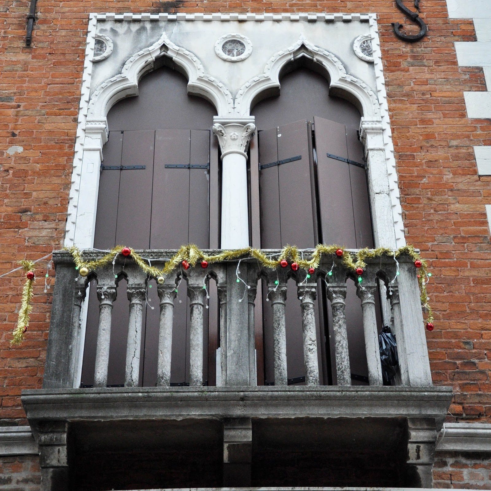 Trifora, Typical Venetian windows, Venice, Italy
