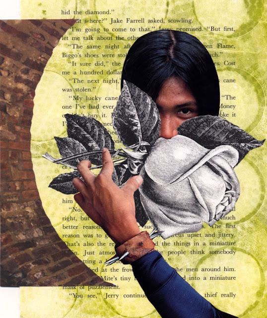 hand cut paper collage by C. Mazzie-Ballheim