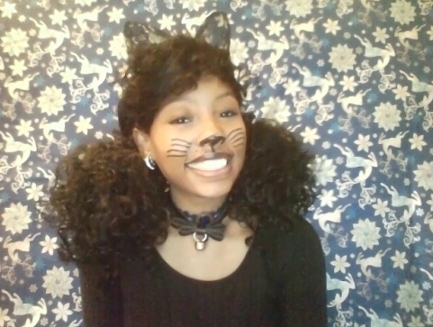 Kawaii cat cosplay Jasmine MinYe black girl makeup tutorial cute