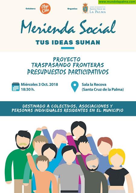 El Ayuntamiento de Santa Cruz de La Palma convoca a los colectivos y asociaciones para impulsar unos presupuestos participativos