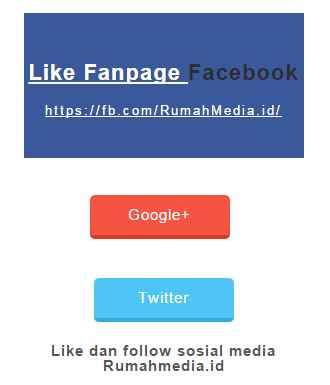 Membuat Simpel Sosial Media Fanpage, Google Plus, dan Twitter di Blogger