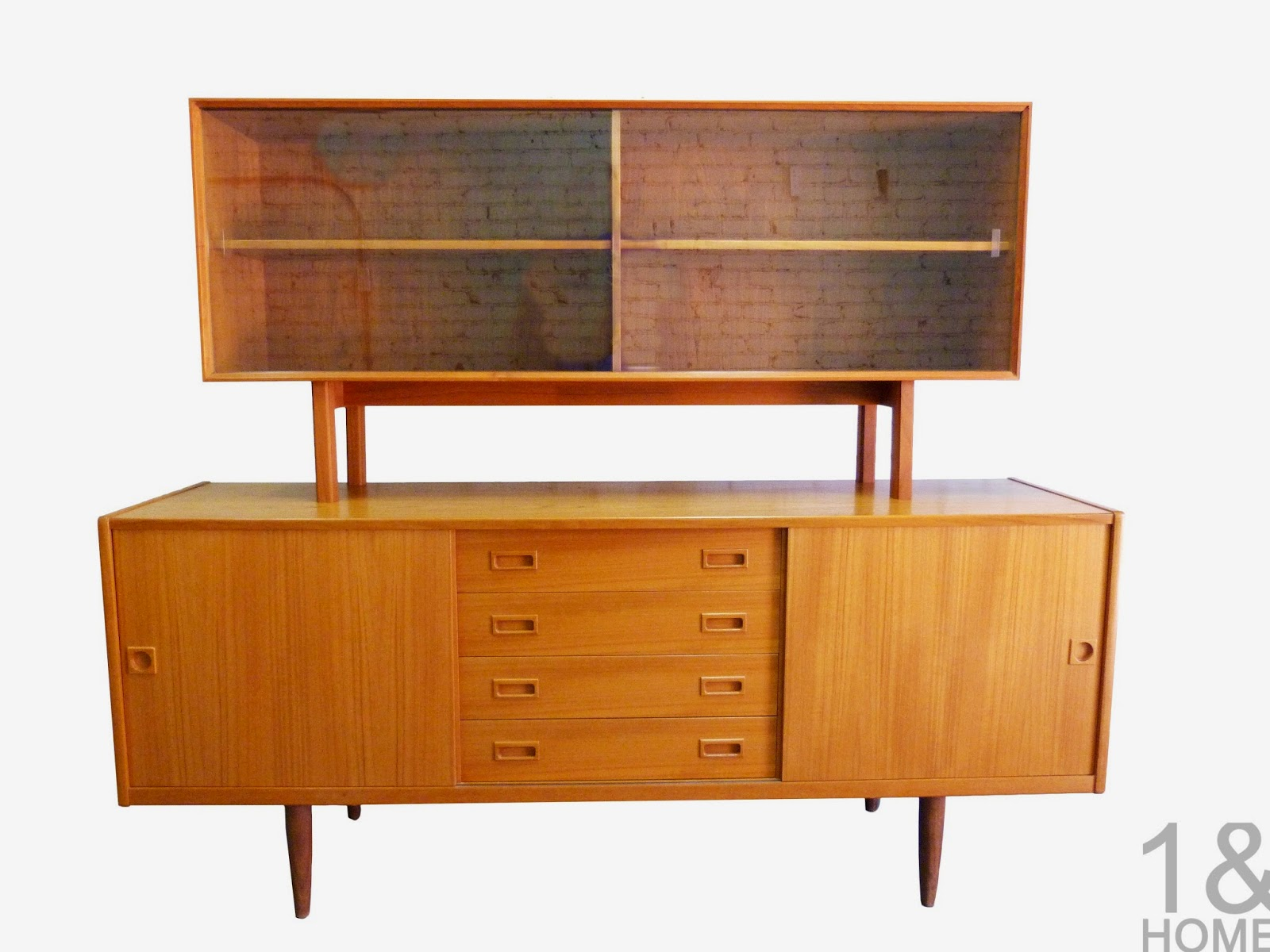 Modern mid century danish vintage furniture shop used for Modern buffet table with hutch