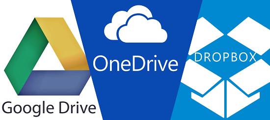 Google Drive / One Drive / Dropbox