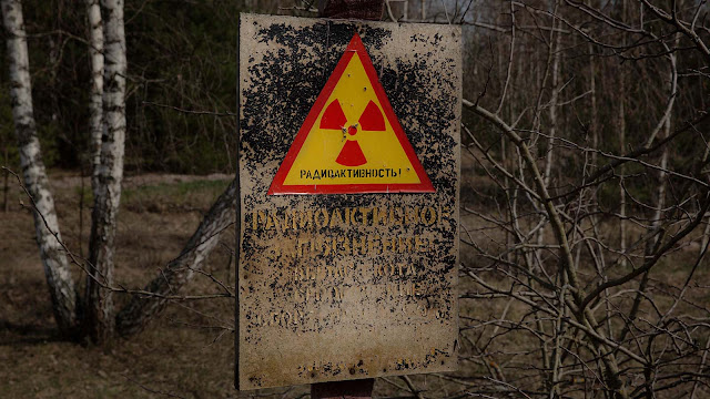 Chernobyl Radiation Warning Sign