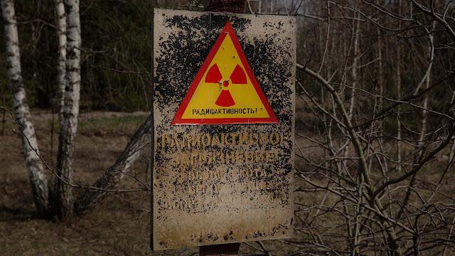 Chernobyl Radiation Warning Sign