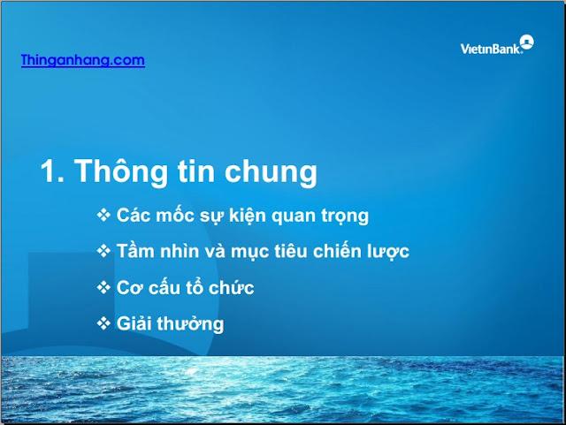 Slide Giới thiệu Vietinbank 2016
