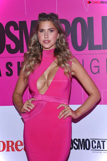 Kara Dell Toro In Stunning Pink Gown at Cosmopolitan Fashion Night in Mexico .xyz Exclusive Pics 011