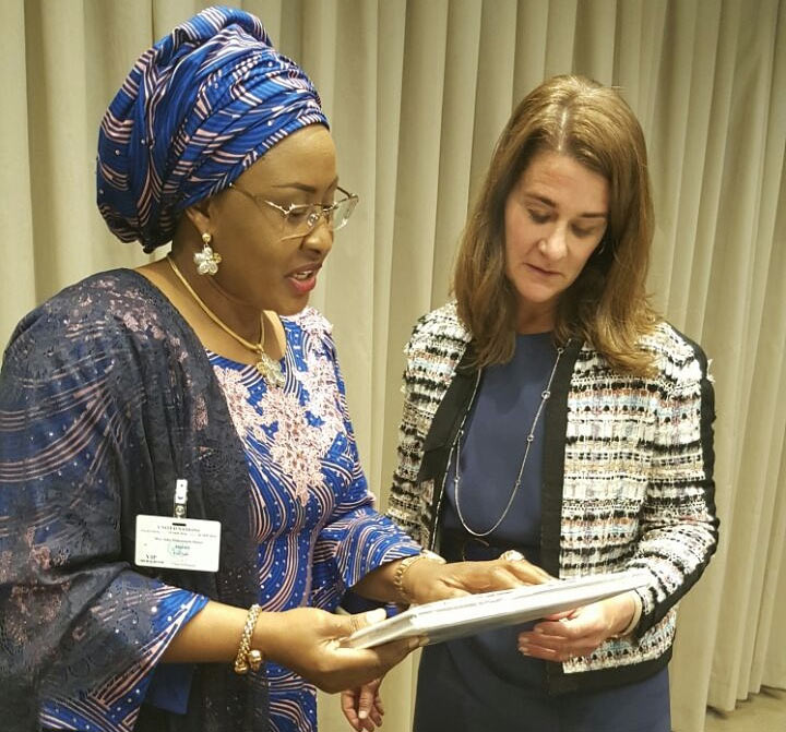 Aisha Buhari meets Bill Gates' wife, Melinda